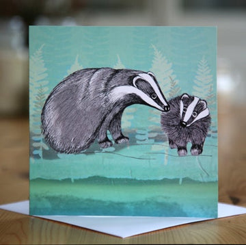Badgers Greetings Card