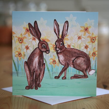 Hares Greetings Card
