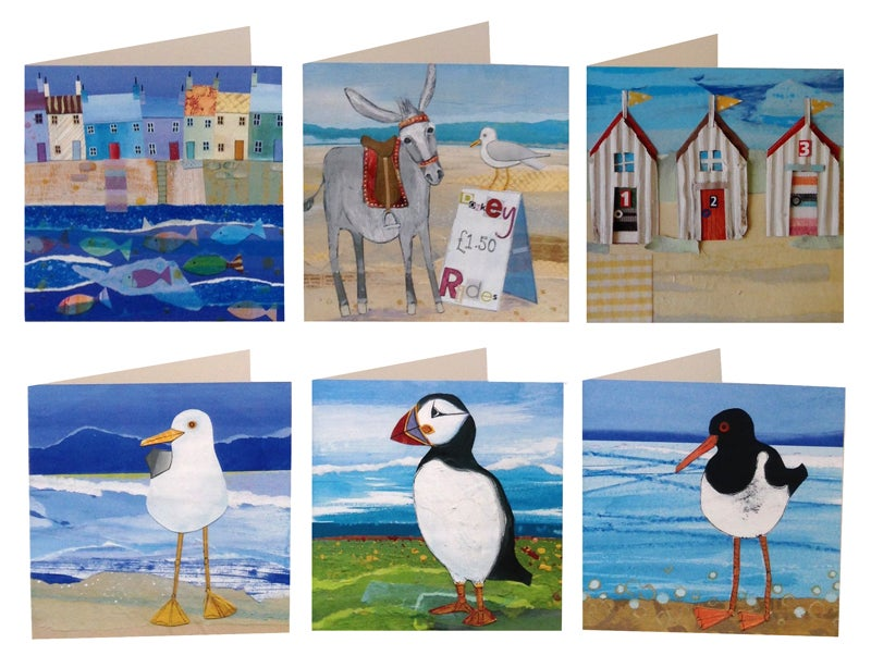 6 Coastal Greetings Cards