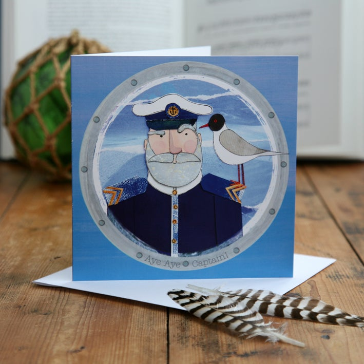Aye Aye Captain! Greetings Card
