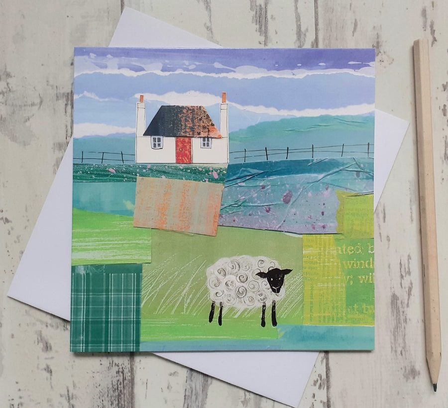 Blackhouse and Sheep - Card