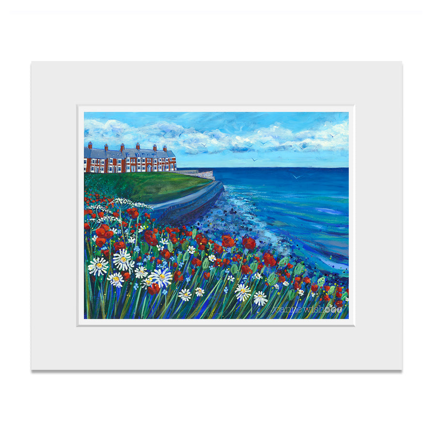 Mounted print of Browns bay in Cullercoats.
