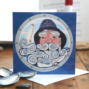 Captain Beardy Greetings Card