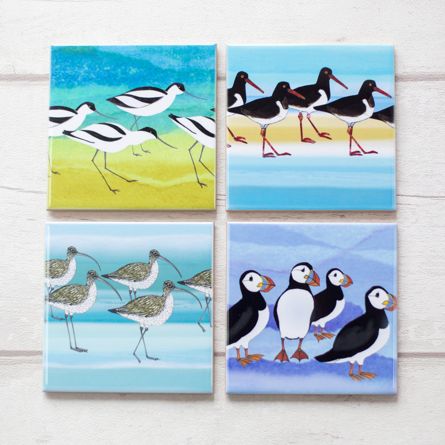 Ceramic Coaster Coastal Bird Gift Set