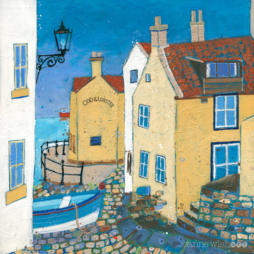 A fine art print of the cod and lobster pub in Staithes.