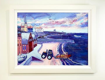 A Winter Shout Cullercoats RNLI Lifeboat Painting
