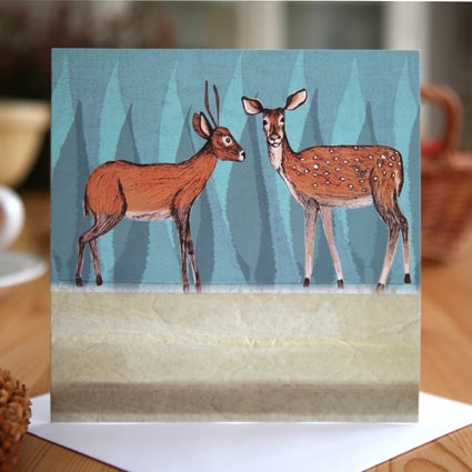 Deer Greetings Card