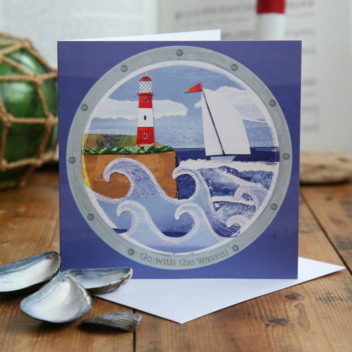 Go with the Waves! Greetings Card