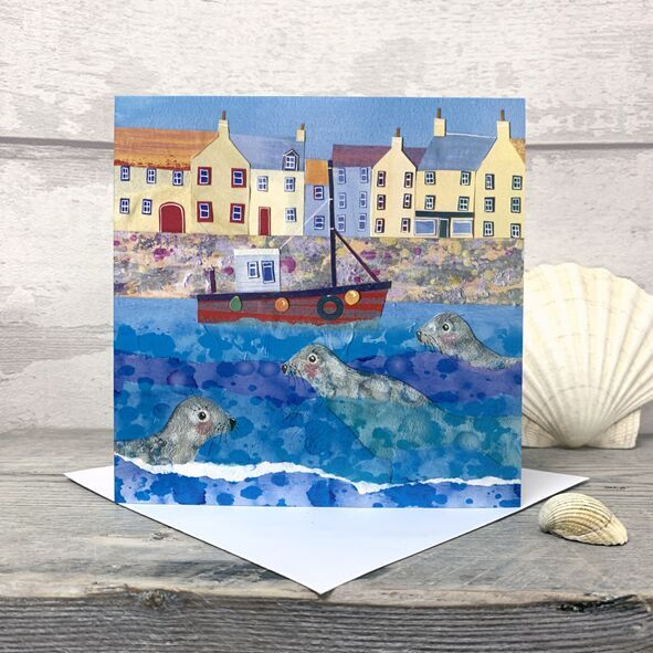 Harbour Seals Greetings Card