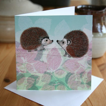Hedgehogs Greetings Card