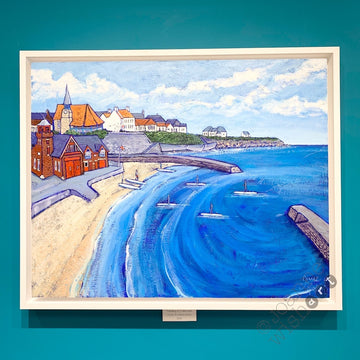 Paddling at Cullercoats - Original Painting