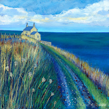 A print of the Bathing House along the northumberland Coastal Path