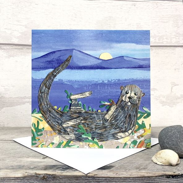 Otter Greetings Card