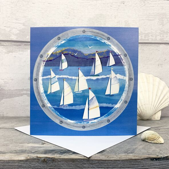 Regatta - Greetings Card by Joanne Wishart artist