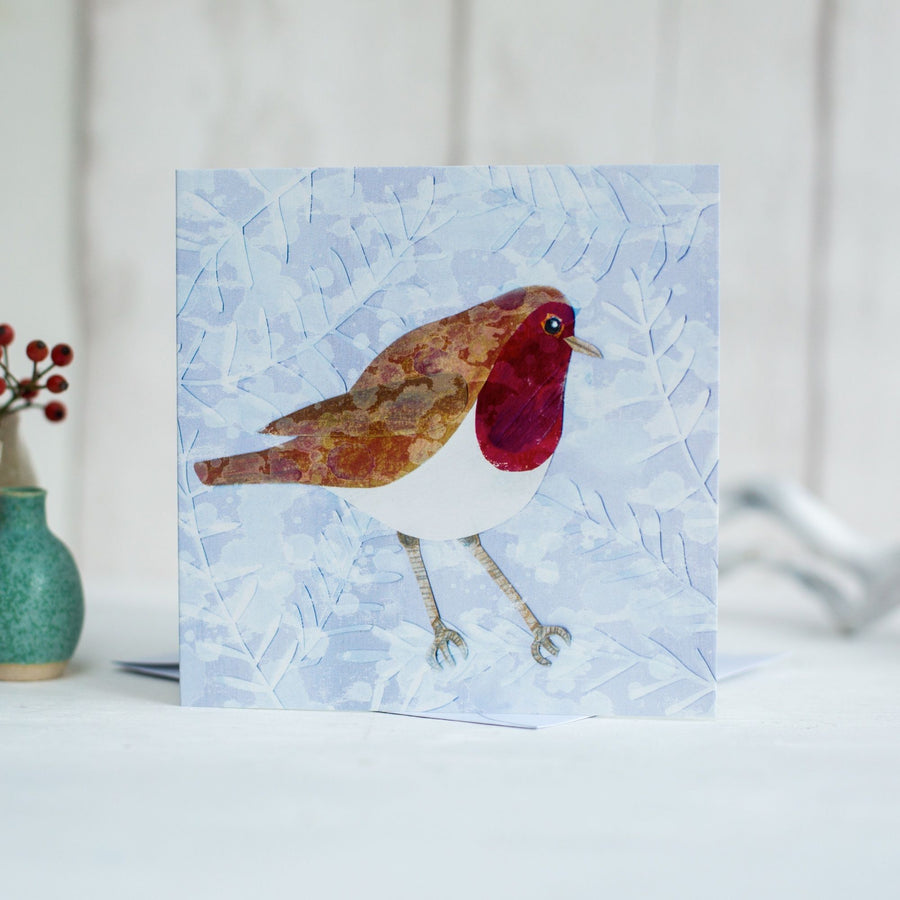 Robin & Snowflakes Greetings Card