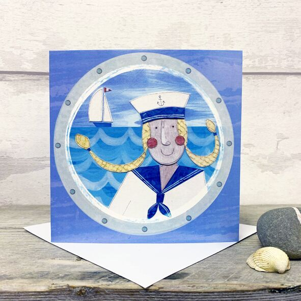 Sailor Girl - Greetings Card by Joanne Wishart artist