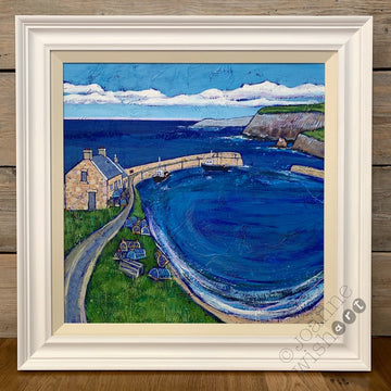 Hidden Harbour ( Scotland ) Original Painting