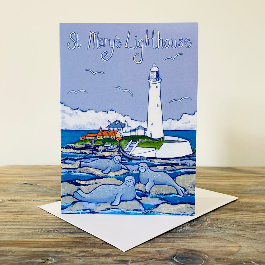 St Mary's Lighthouse Greetings Card