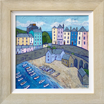 Happy Houses (Tenby in Wales) - Original Painting