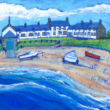 The Ship Inn pub in Northumberland captured in a print by Joanne Wishart
