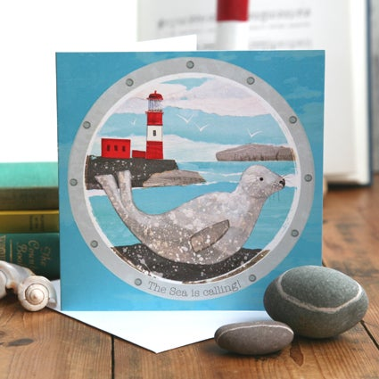 The Sea is calling! Greetings Card