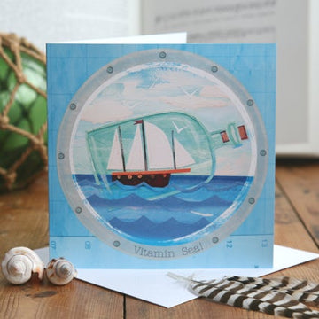 Vitamin Sea Greetings Card