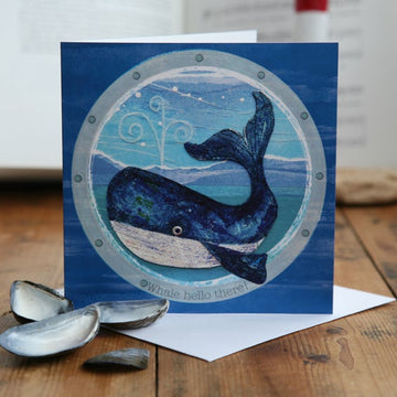 Whale Hello There! Greetings Card