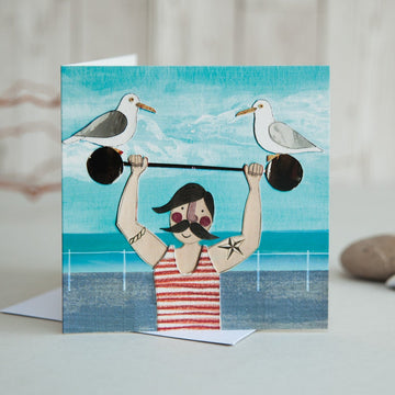 Seaside Strongman Card