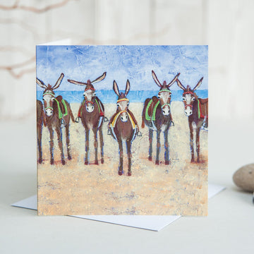 Seaside Donkeys Card