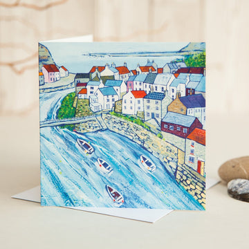 Fishing Village Card