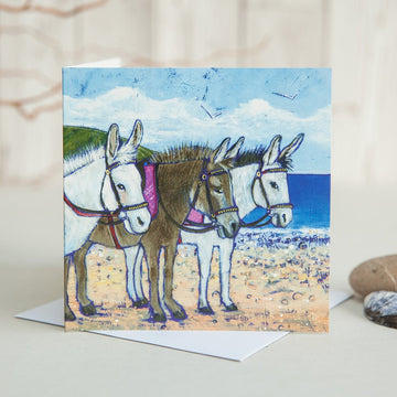 Beach Donkeys Card