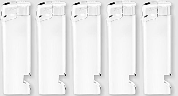 Refillable Adjustable Electronic Lighter With Bottle Opener - 50 pcs
