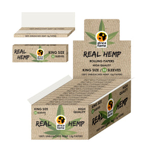 Africa Flame Hemp Rolling Paper XL  - 50 pcs (booklets) 100% Real Hemp
