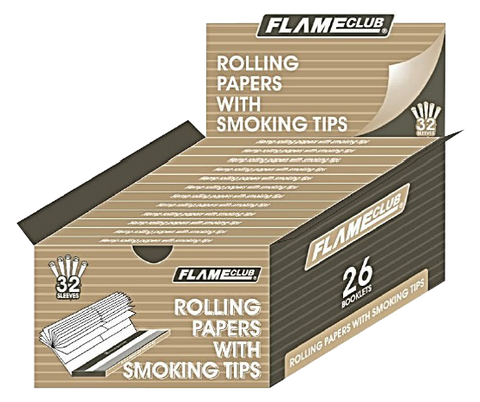Flame Club Rolling Paper XL with Tips - 26 pcs (booklets)