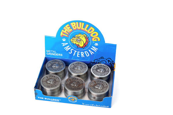 Tobacco Grinder - The Bulldog 4pc Metal Silver