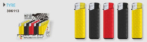 N7 Unique Refillable Adjustable Electronic Lighter - 25 pcs