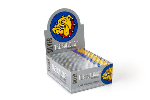 The Bulldog Rolling Paper - Silver King Size Slim 1x50s