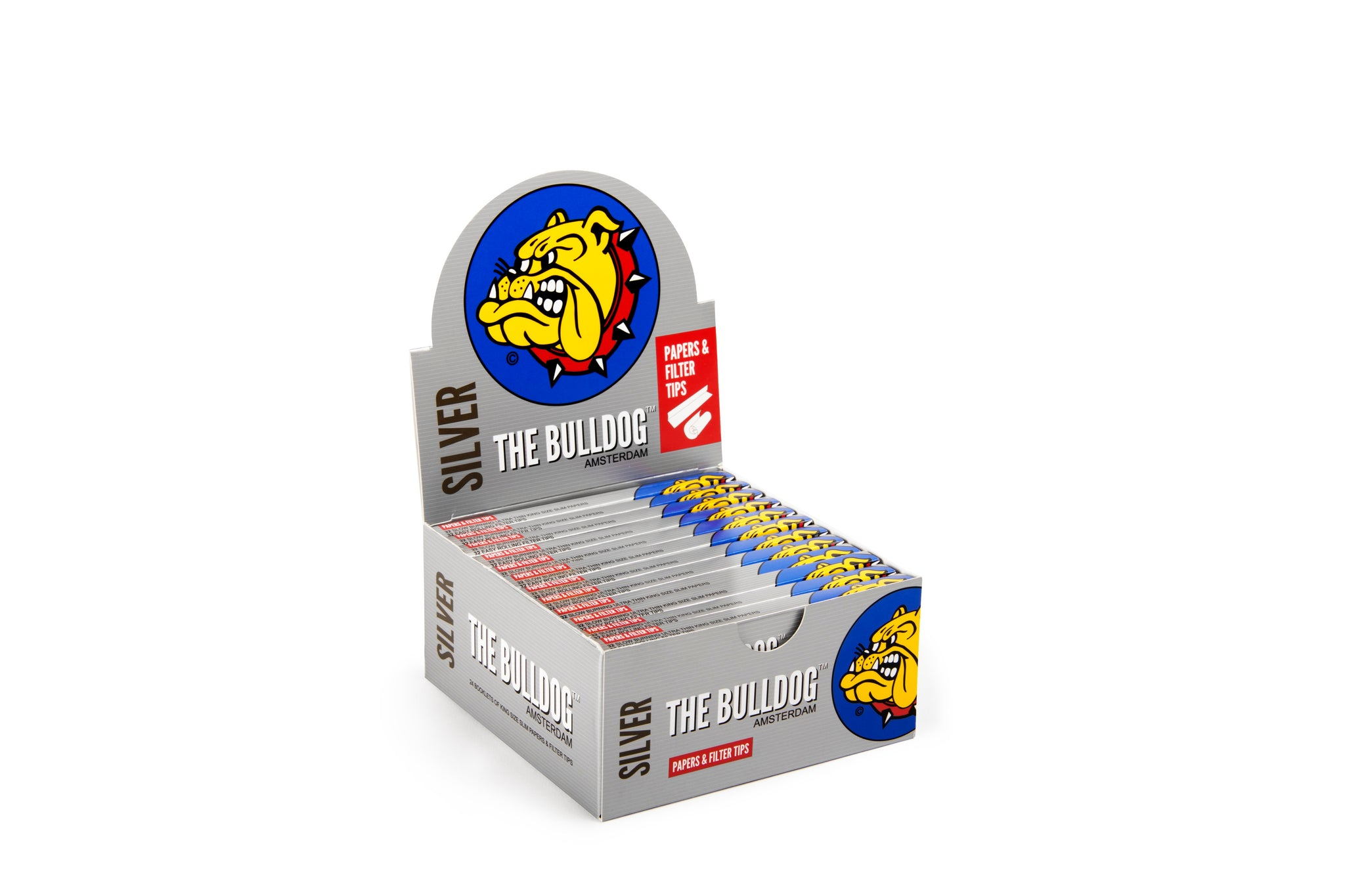 The Bulldog Papers and Filter Tips - Silver King Size Slim 1x24