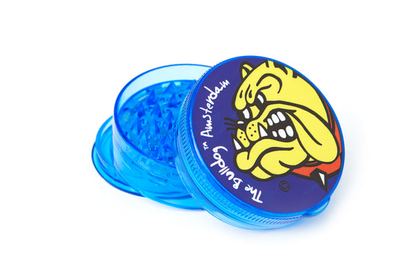 Tobacco Grinder - The Bulldog 4pc Plastic Blue