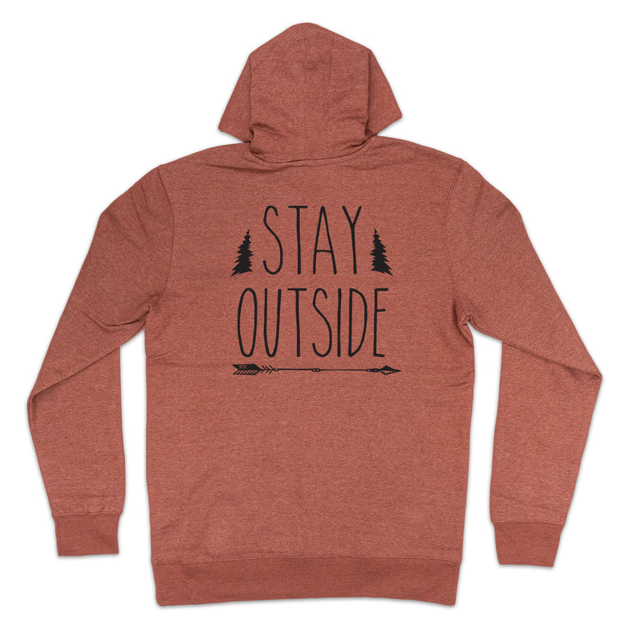 STAY OUTSIDE | HEATHER CLAY HOODIE
