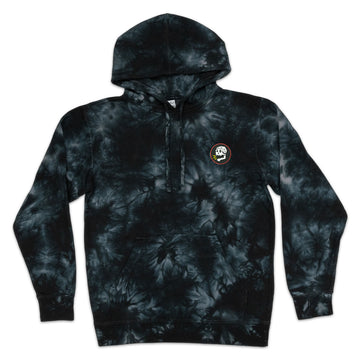 SCREAMIN' SKULL PVC | BLACK DYE HOODIE