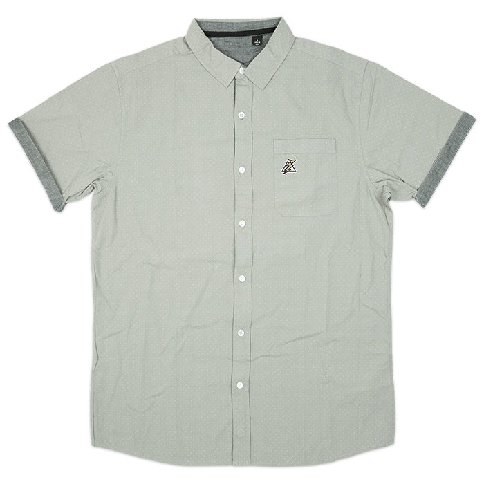 POPLIN BUTTON UP | GREY