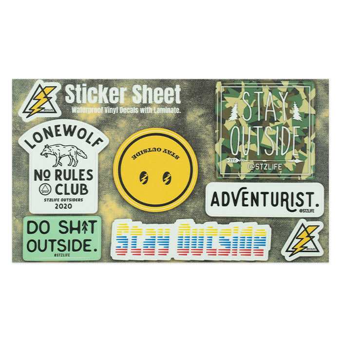 STAY OUTSIDE STICKER PACK