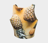 Hatha Zone Pineapple Season Crop Top-Athletic Crop Top-Hatha Zone