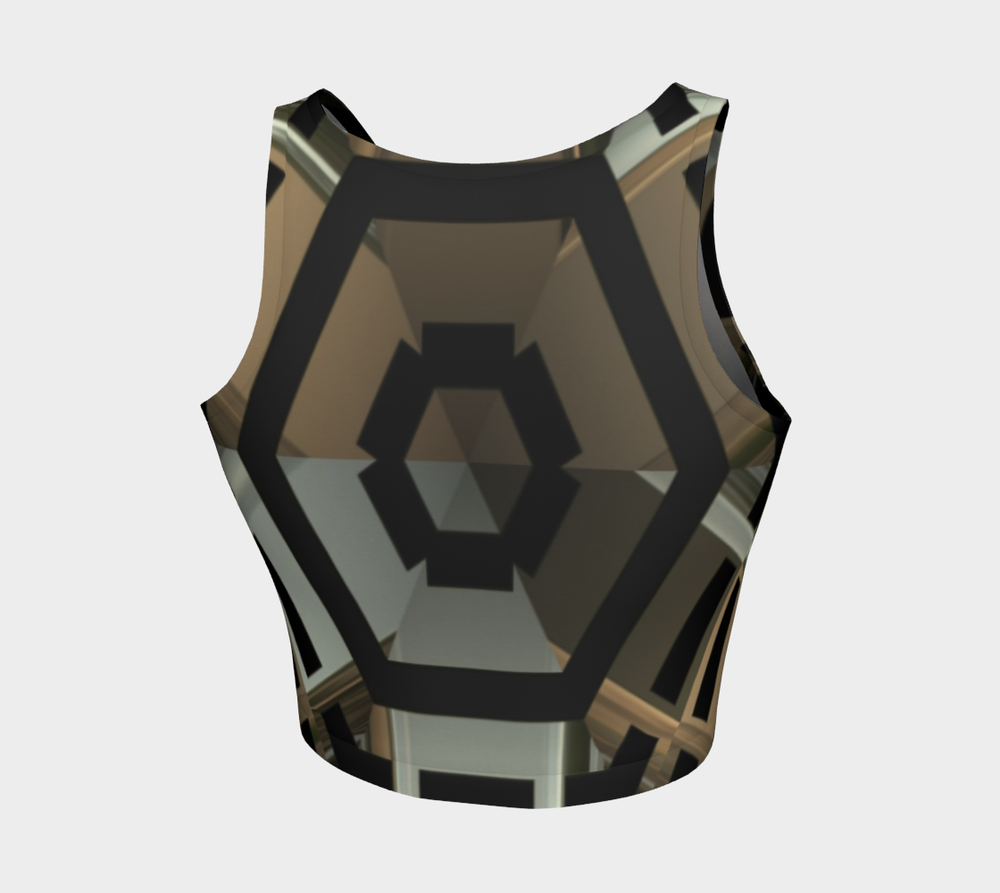 Hatha Zone Robotic Crop Top-Athletic Crop Top-Hatha Zone