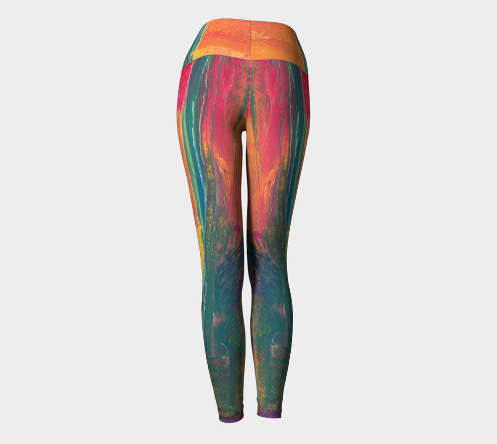 Hatha Zone Smeared Paint High-Waist Yoga Legging Pant-Yoga Leggings-Hatha Zone
