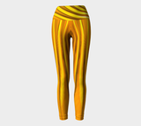 Hatha Zone Gold Streak High-Waist Yoga Legging Pant-Yoga Leggings-Hatha Zone