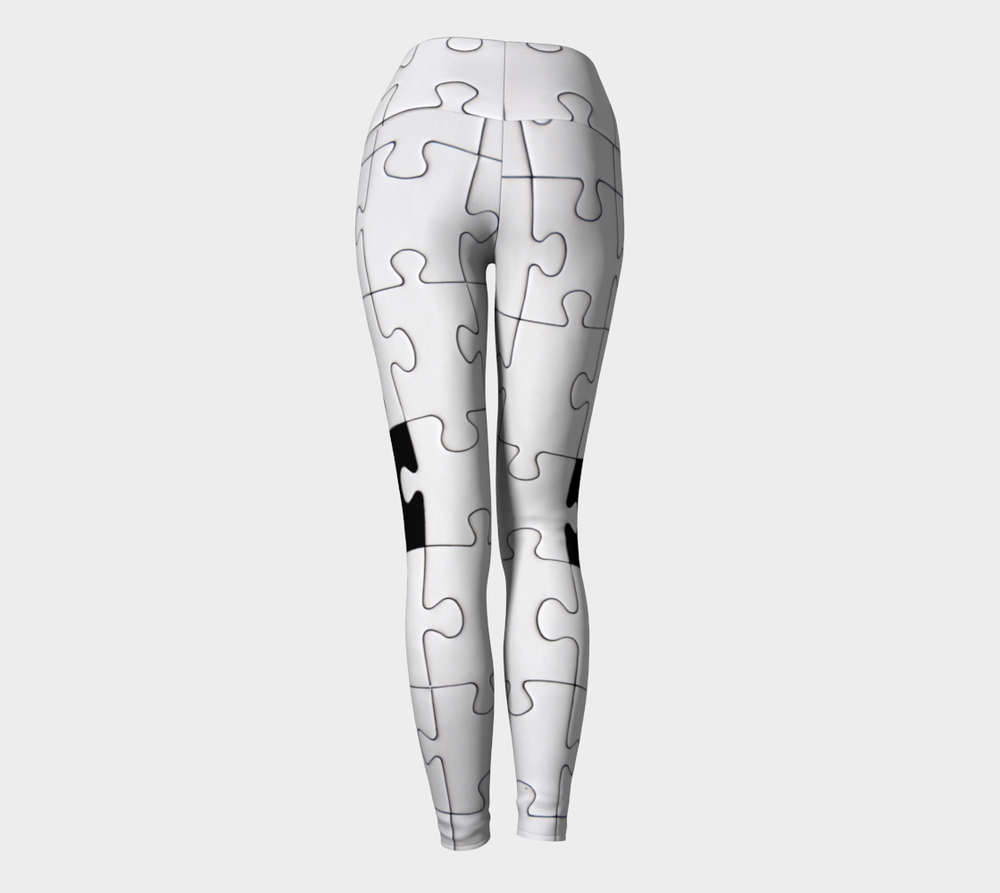 Hatha Zone Puzzling High-Waist Yoga Legging Pant-Yoga Leggings-Hatha Zone