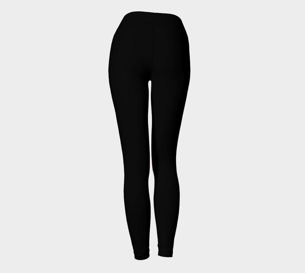 Hatha Zone Alarm High-Waist Yoga Legging Pant-Yoga Leggings-Hatha Zone