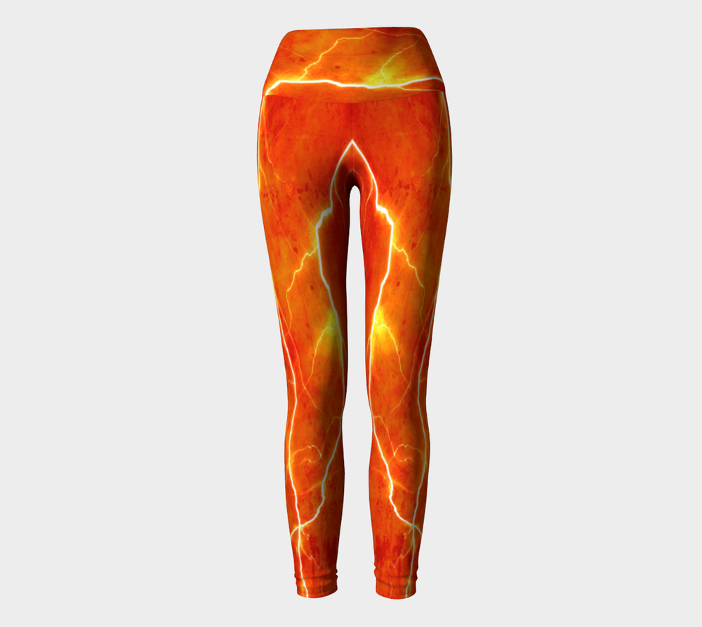 Hatha Zone Lightning Strike High-Waist Yoga Legging Pant-Yoga Leggings-Hatha Zone